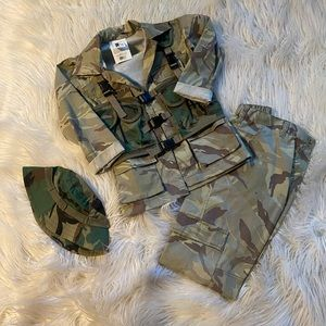 Boys camouflage military costume